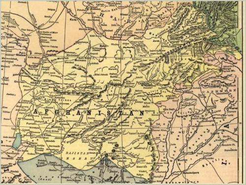 AF-PAK map Before Durrand line 1893.